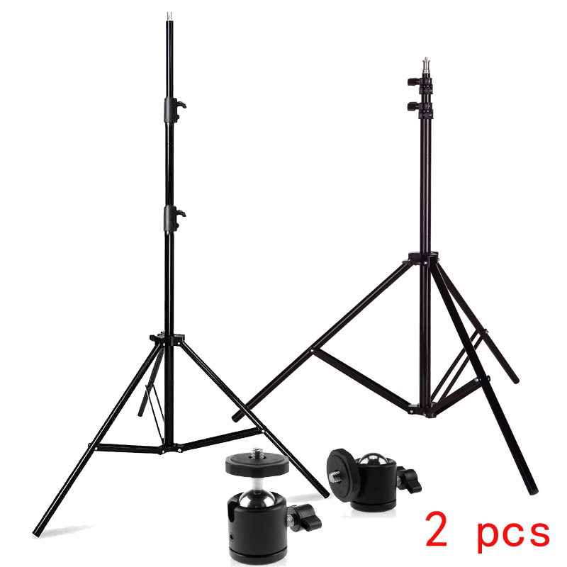 Photo Studio 2PCS Light stendi Professional 6.6ft 2M gaismas stends, ieskaitot Mini Tripod Ball Head for HTC VIVE Game Stand