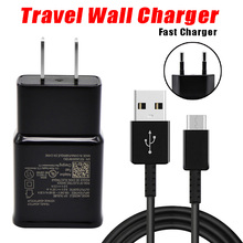 2 in 1 Wall Charger for Samsung S8 S9 Plus S 8 Fast Charger  Adaptive Quick Travel Wall Adapter Charge 1.2M Type C Cable 9V1.67