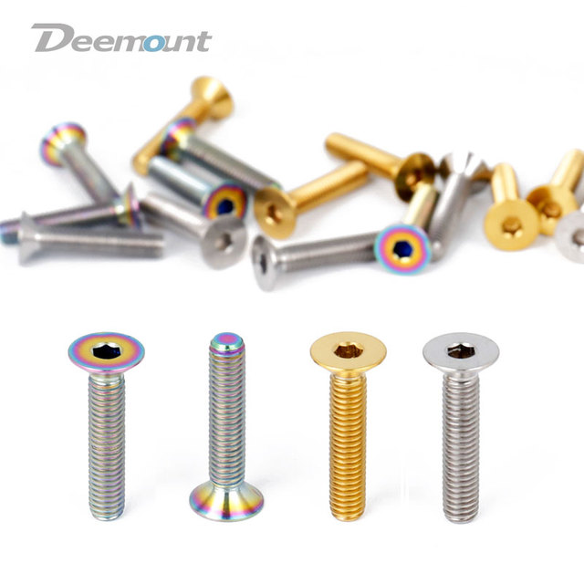 US $5 04 30% OFF|Deemount 2pcs Bicycle Headset Bolts Titanium M6*30mm Ti  Screw for Stem Top Cap MTB BMX Bikes Fastening Device-in Bicycle Headset  from