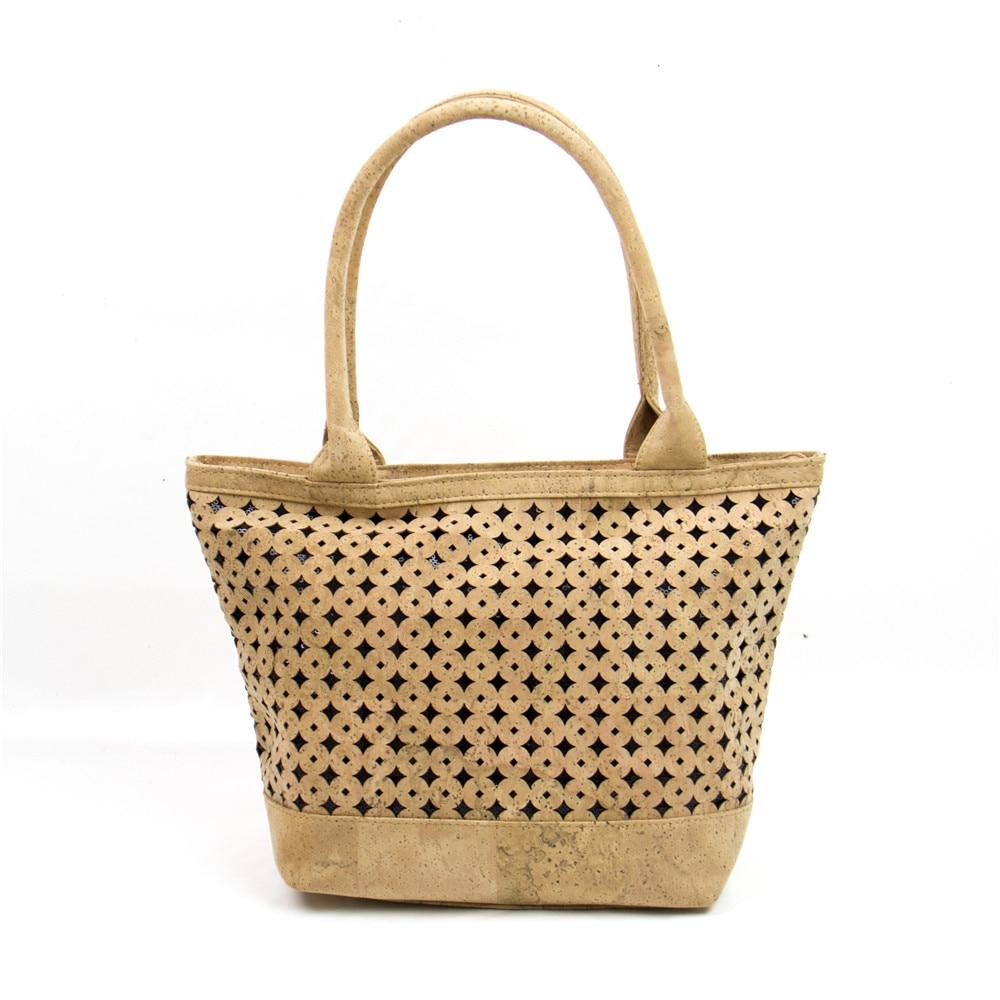 Natural cork fabric bags women cork body cross vegan Cork handbag with sequins Bag-260-A пробковый пол corksribas e cork item 9