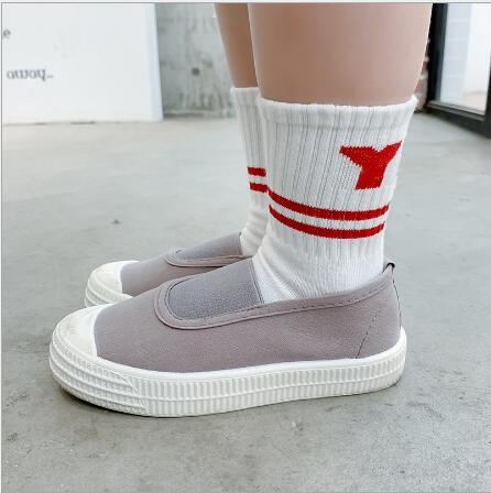 Children's socks wholesale tide kids boys girls 2021 years new left and right foot sports letters cotton socks 5