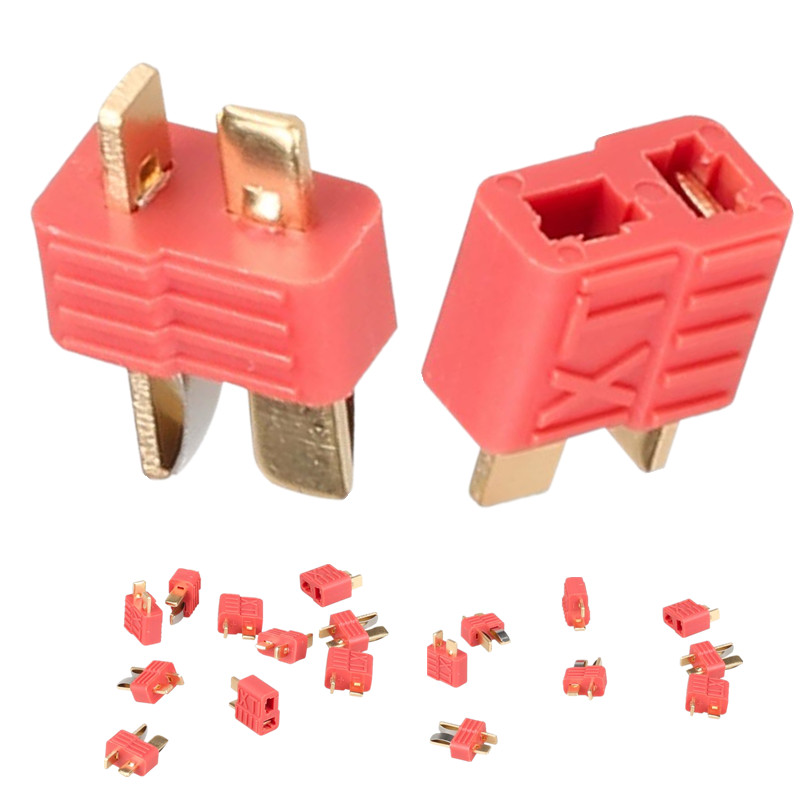 100 pairs male female deans style XT plug with Golden grip T plug Anti-skid For RC ESC Battery 16% Off