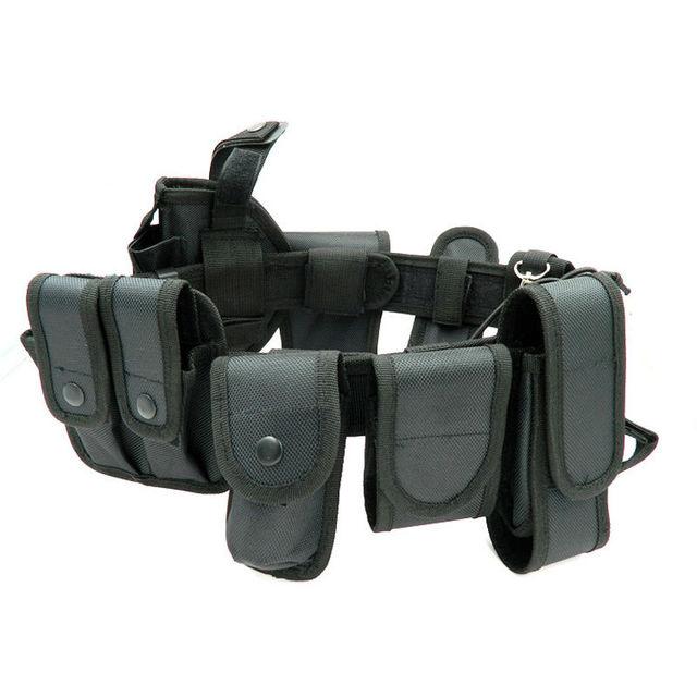 Ao ar livre Tático Multifuncional Cinto de Segurança Cintos de Políticas de Formação Guarda Utility Heavy Duty Combate Cintos 10 pçs/sets