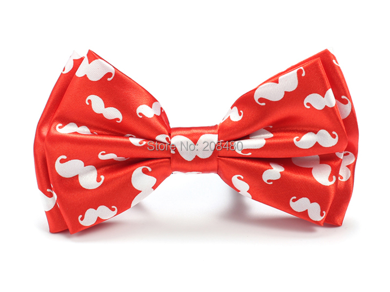 """Новое поступление Блестящий галстук-бабочка для мужчин унисекс """"красные Усы"""" Смокинг одежда бабочка/Бабочка вечерние свадебные галстук-бабочка"""