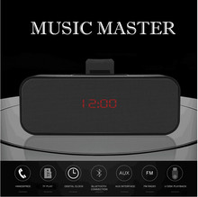AZN Alarm K90 Subwoofer Bluetooth Speaker Audio Card Wireless Clock Car