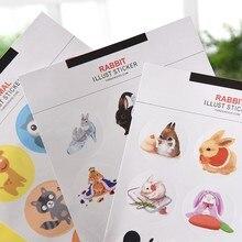 9pcs/bag Cartoon animal universal photo album Scrapbook round decoration stickers DIY Handmade Gift Scrapbooking Free shipping