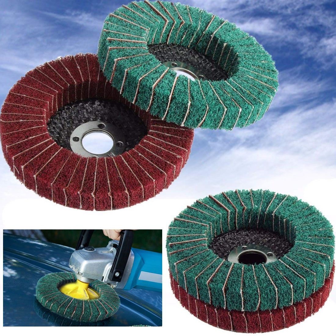 Nylon Fiber Buffing Wheel Abrasive Polishing Buffing Disc Grit Nylon Fiber Polishing Wheel 100mm