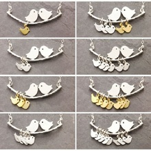 2017 1-8 Category Bird Bird Necklace Simple Fashion Tree and Bird Pendant Necklace Mother Jewelry Hot Selling