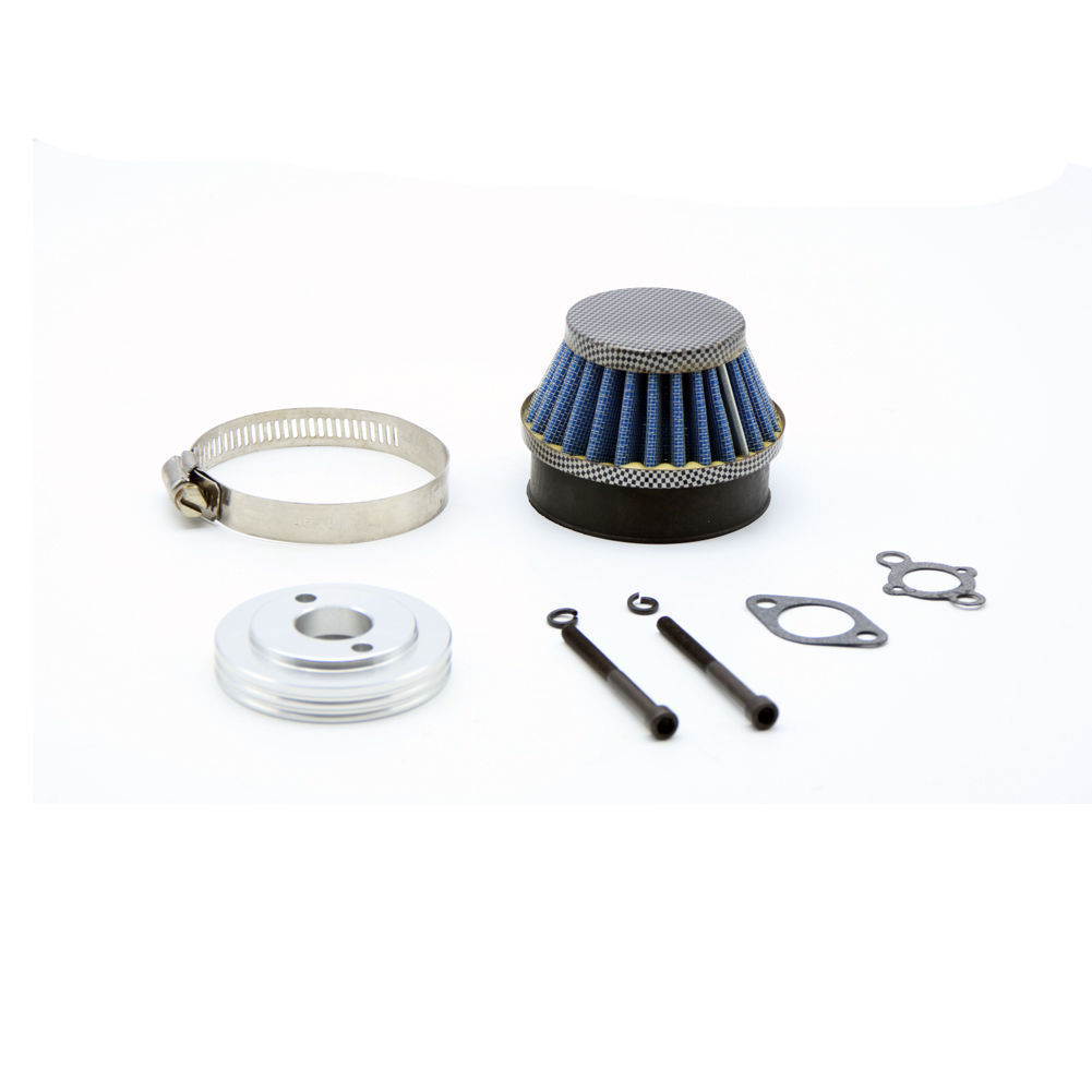 Silver CNC air filter adaptor mount for hpi rovan km baja 5B 5T buggy engine