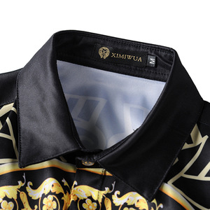 Image 3 - XIMIWUA 2019 جديد وصول 3d قمصان الرجال عارضة ضئيلة تناسب نمط بدوره إلى أسفل طوق طويل الأكمام الرجال قمصان camisa الغمد
