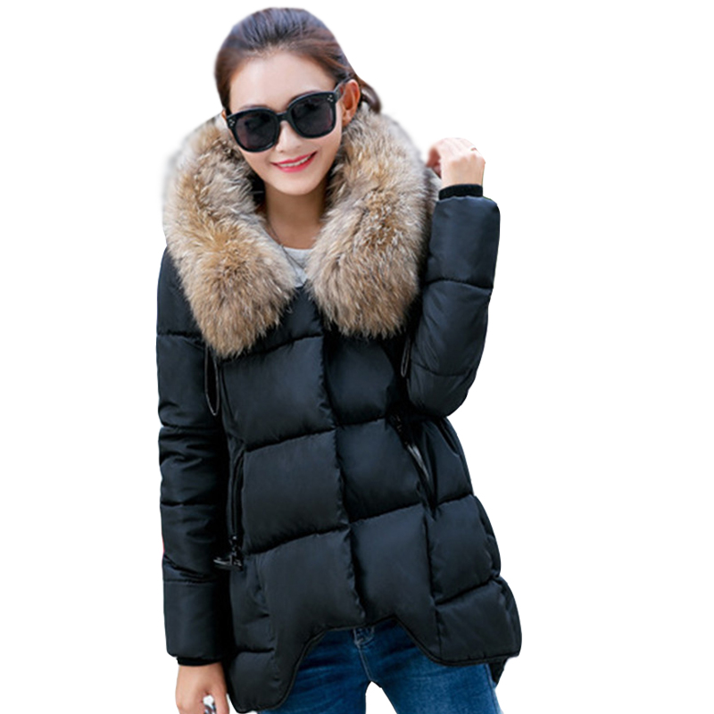 ФОТО 2016 Winter new  women's cotton irregular long-paragraph women's cotton-padded jacket down jacket Tops for women