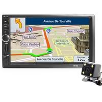 2din Car Multimedia Player GPS Navigation Camera Map 7 Inch HD Touch Screen Bluetooth AUX Autoradio
