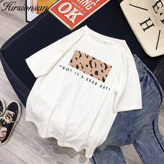 Leopard Print Women Summer Cool T-shirt Female Tops