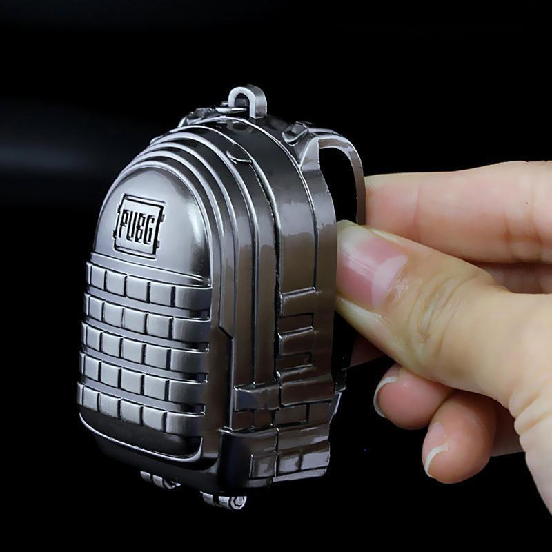 Game Playerunknown's Battlegrounds PUBG Cosplay Great Escape Players Backpacks Keychain Alloy Weapons Model Gift
