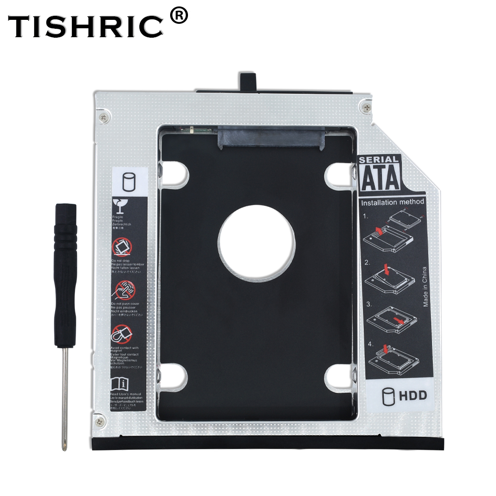 TISHRIC 12.7mm SATA 3.0 HDD Caddy HDD Case Box HDD 2.5 Optibay Aluminum Enclosure For Lenovo ThinkPad T420 T430 T510 T530 W700