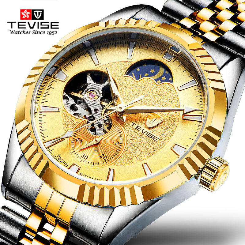 TEVISE Fashion Sport Automatic Mechanical Watch Men Top Brand Luxury Male Clock Wrist Watches for Men Relogio Masculino T629B oubaoer fashion top brand luxury men s watches men casual military business clock male clocks sport mechanical wrist watch men