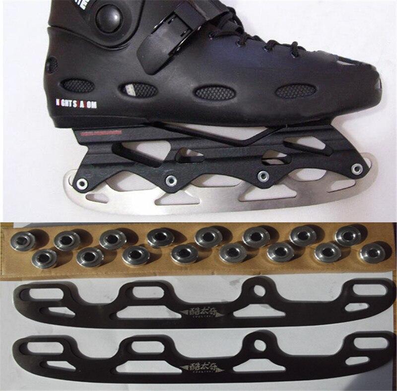 Prix pour [Glace Lame] Glace Lame pour Inline Chaussures De Patinage Patins à roulettes DIY Modifier, installer sur Patin Cadre Base, pour Adulte Enfant Enfants