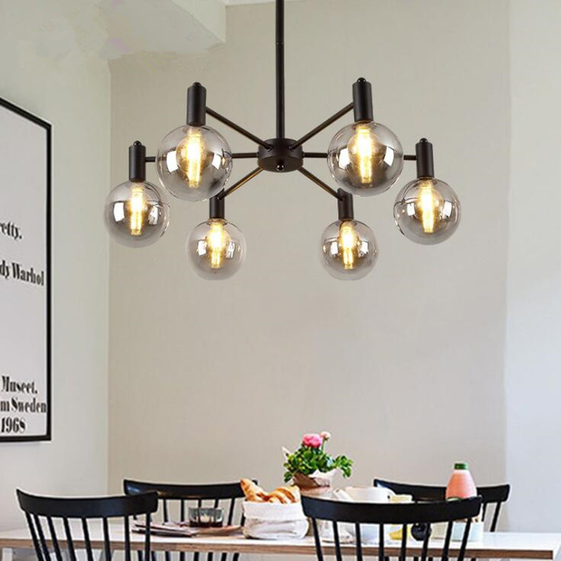 Restaurant Northern Europe G9 LED Chandelier Simple Modern Iron Postmodern Magic Bean Living Room Bedroom Decor Lighting