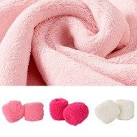ホット5ピース綿カラフルな色素スカーフ手編み糸手編み5〜6ミリメートル針スカーフ柔らかい綿の糸厚いウール糸
