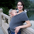 Bebé Hipseat Mochila Transpirable Cubierta De Enfermería Estriado de Alta Elástico Algodón de La Manera Muchachas de Los Bebés de Eslingas Portador del Abrigo de la Cubierta