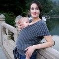 Infantil Hipseat Backpack Capa de Enfermagem Respirável Alta Elástica Estilingues do Bebê Das Meninas Dos Meninos Moda Algodão Estriado Transportadora Envoltório Capa