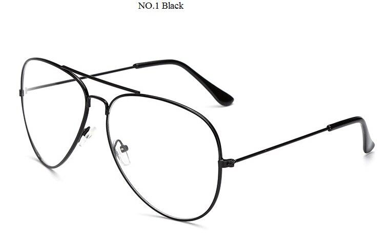 Clear Glasses Myopia Clear Frame Glasses Women Men Spectacle Frame Clear Lens Optical Clear Aviator Glasses Lunette Transparent
