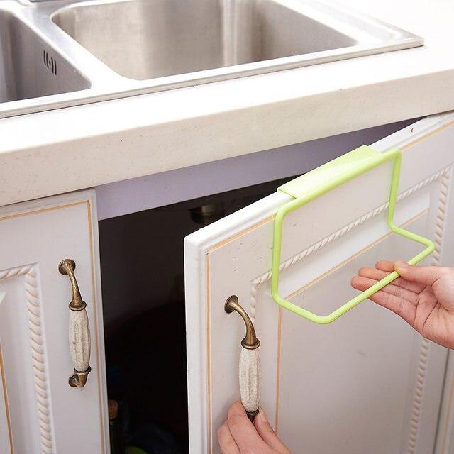 Neue Badezimmer Küche Handtuch Rack Schrank Tür Zurück Hängen Handtuch  Regal Halter Rag Pinsel Organizer Küche Zubehör S15