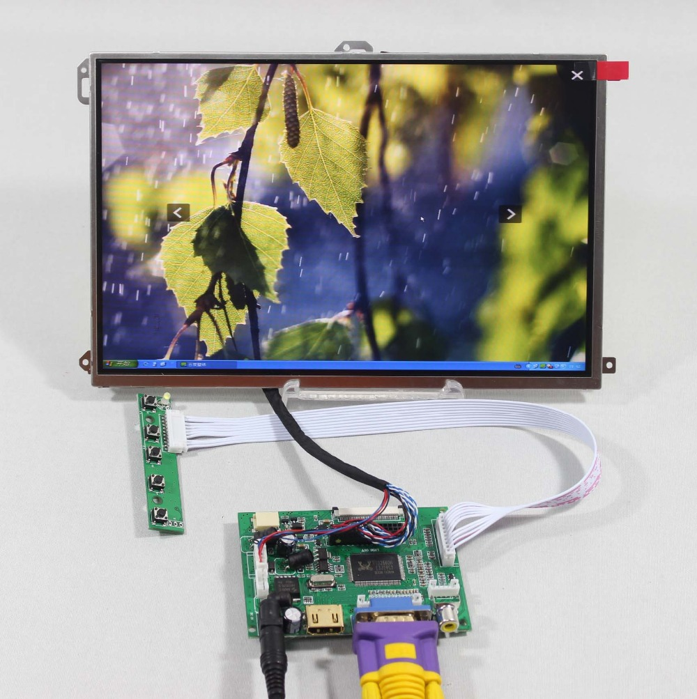 HDMI+VGA+2AV LCD driver board VS-TY2662-V1+10.1 LP101WX1-SLP2 1280*800 IPS lcd vga 2av revering driver board 8inch 800 600 lcd panel ej080na 05b at080tn52