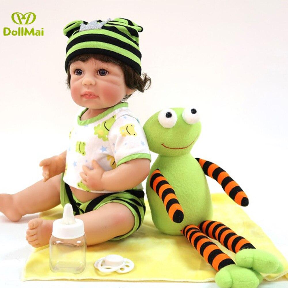 "Exclusive Reborn Doll 16""40cm full vinyl silicone reborn baby boy girl dolls toys for children gift bebes reborn menino"