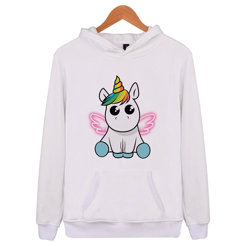 2018 Kawaii Pink Cat Unicornio Hoodies Women Cute Cartoon Panda Print Long Sleeve Sweatshirt Casual Tracksuit Outerwear Harajuku Convenience Goods Women's Clothing