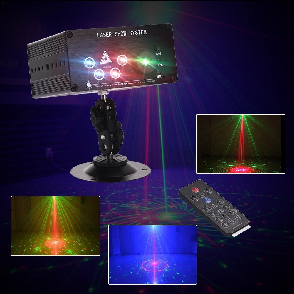 5 Lens LED Stage Laser Light Chrismas Halloween Festival Home Decorating Light LED Disco Bar Stage Lamp Dropship 6.22