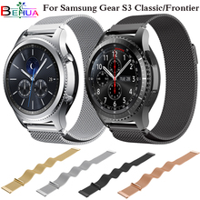 Milanese Loop Watchband For Samsung Gear S3 Classic Strap For Gear S3 Frontier Stainless Steel Band w Magnetic Closure Straps цена