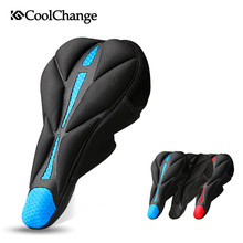 CoolChange 3D Thicken Bicycle Seat Cover with Anti-slip Soft Sponge Mountain Bike Saddle Cover Cycling Bicycle Seat Cushion Pad coolchange 10005 3d soft lycra cushion bicycle saddle pad seat cover black silver