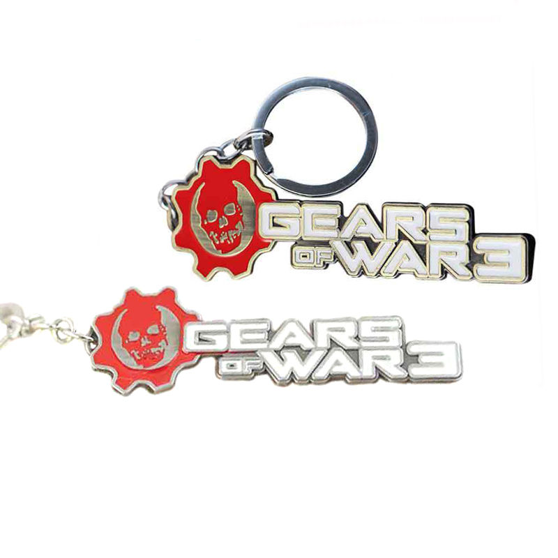 New Gears of war 3 letters mark alloy chain pendant keychain for women men Game Punk keychain Cartoon Jewelry Birthday Gifts