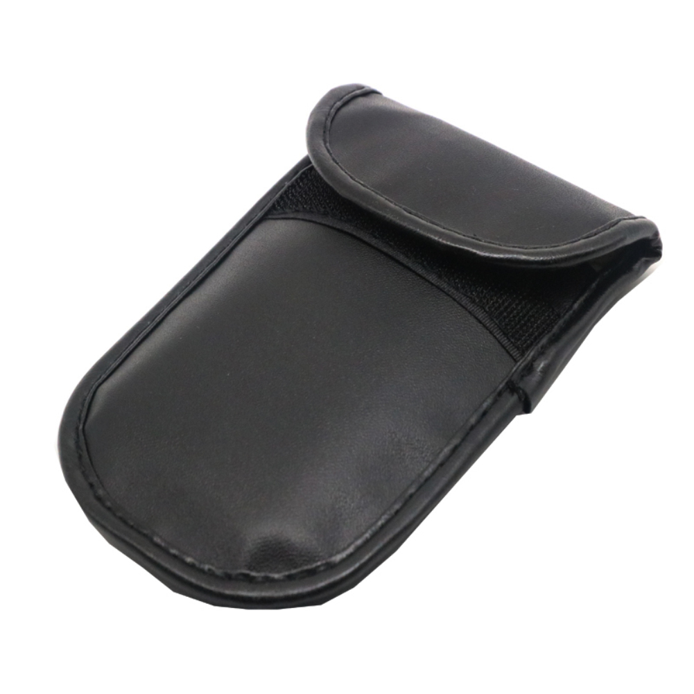 Image 4 - Car Key Signal Blocker Case Faraday Cage Fob Pouch Keyless RFID Blocking Bag Leather-in Key Case for Car from Automobiles & Motorcycles