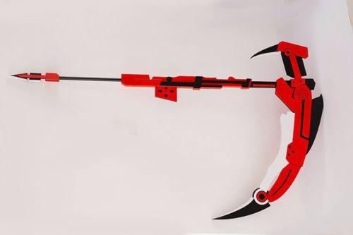 Hot transmutable RWBY Ruby Crescent Rose Sickle PVC Cosplay Scythe Prop 71'' Weapons