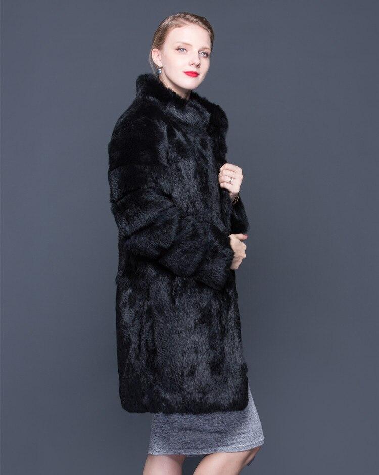 Luxe Col Paka Étagères Cuir Long Épais Noir En Qualité De Manteau Black Fourrure Dames Nouvelles 2018 zqOfXw