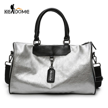 Silver Sports Bag Lady Luggage Bag in Travel Bags with Tag D