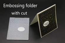 3D  Embossing folder with cut DIY Cutting Dies Scrapbooking Plastic Folder for Photo Album Paper Craft