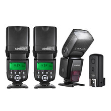 Andoer AD560 IV Universal 2.4G Wireless On-camera Slave Speedlite Flash Light GN50 *3 + Trigger for Canon Nikon Son DSLR Cameras(China)