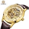 STARKING Brand Luxury Men's Automatic Watches Mechanical Hollow Gold Watch Men Diamond Role Wristwatches AM0188 reloj hombre