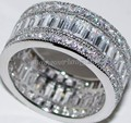 Victoria Wieck Full Princess cut Topaz Simulated Diamond 10KT White Gold Filled Engagement Wedding Band Ring Set Sz 5-11 Gift