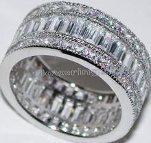 Victoria Wieck completo princesa cut Topaz diamante simulado blanco de 10KT Gold Filled Engagement Wedding Band Set anillo Sz 5-11 regalo
