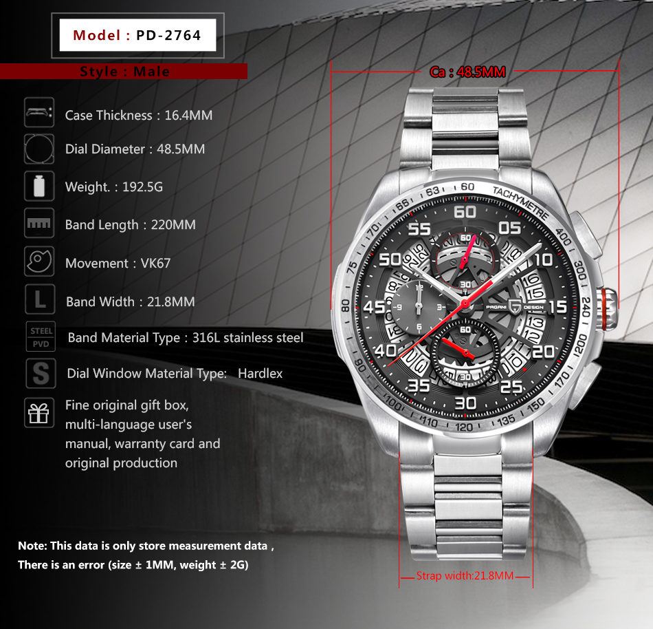 Pagani design 탑 럭셔리 브랜드 남자 시계 스포츠 방수 석영 시계 남자 손목 시계 남성 시계 relogios masculino saat-에서수정 시계부터 시계 의  그룹 2