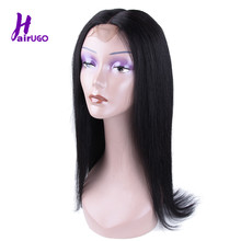 HairUGo Malaysian 2*6 Lace Frontal Wig Pre Plucked With Baby Hair Non Remy Straight Lace Front Human Hair Wigs For Black Women(China)