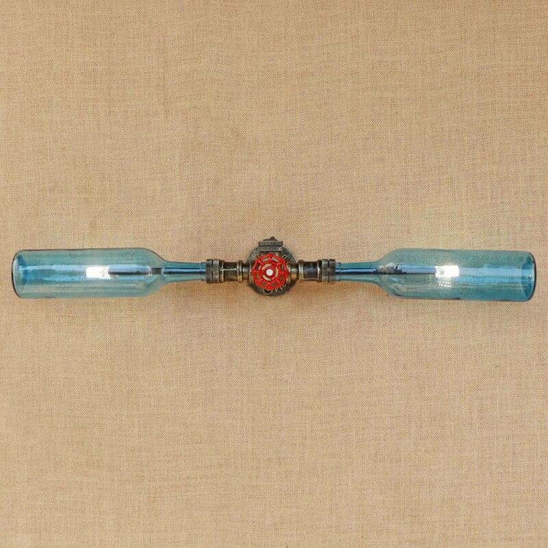 Retro LOFT Glass Shade Wall Lamp  Iron Rust Include Led G4 Bulb Wall Light For Living Room Bedroom Restaurant 110v 220V glass brick bulb lamp led night light 220v