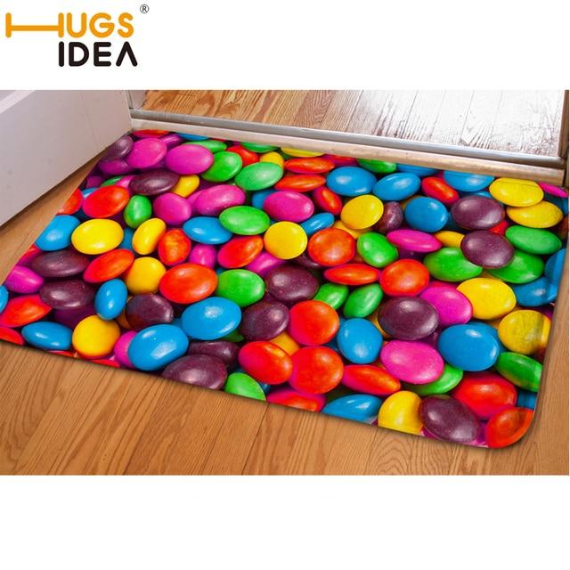 HUGSIDEA 3D Candy Color Funny Entrance Doormat Carpet Kids Bedroom ...