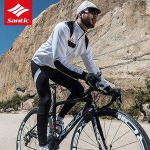 Image 4 - Santic Bộ Quần Áo Đạp Xe Jersey Nam Mùa Đông Chống Gió MTB Đường Xe Đạp Xe Đạp Jersey Nhiệt Trang Đi Xe Đạp Bộ Quần Áo Maillot Ciclismo