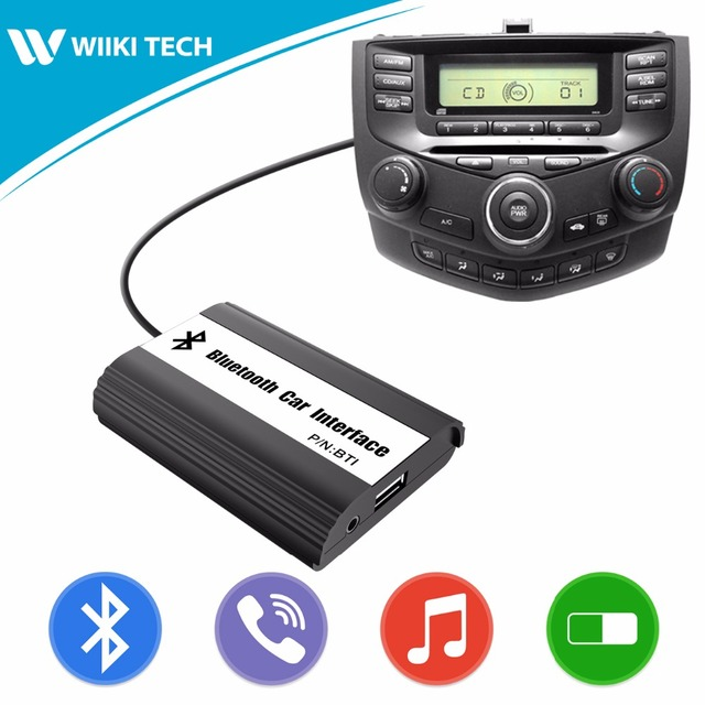 APPS2Car Car Radio Bluetooth Hands Free Calling Interface Wireless Music Receiver USB AUX Adapter for Honda Accord 2003-2011