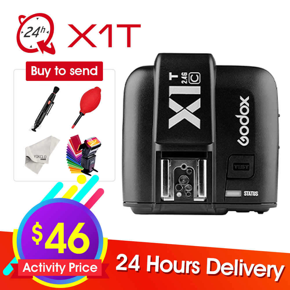 Newest Godox X1T X1T S C N O F Transmitter Wireless Flash Trigger for Sony Canon